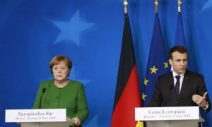 Συνάντηση Μακρόν - Μέρκελ στο Βερολίνο