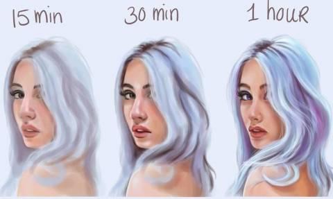 Πόσα λεπτά χρειάζεται ένας καλλιτέχνης για να κάνει «παπάδες»;