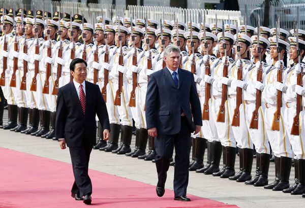miguel diaz canel china