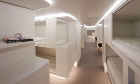 Εικόνα από το μέλλον: Καμπίνες με κουκέτες ετοιμάζει η Airbus