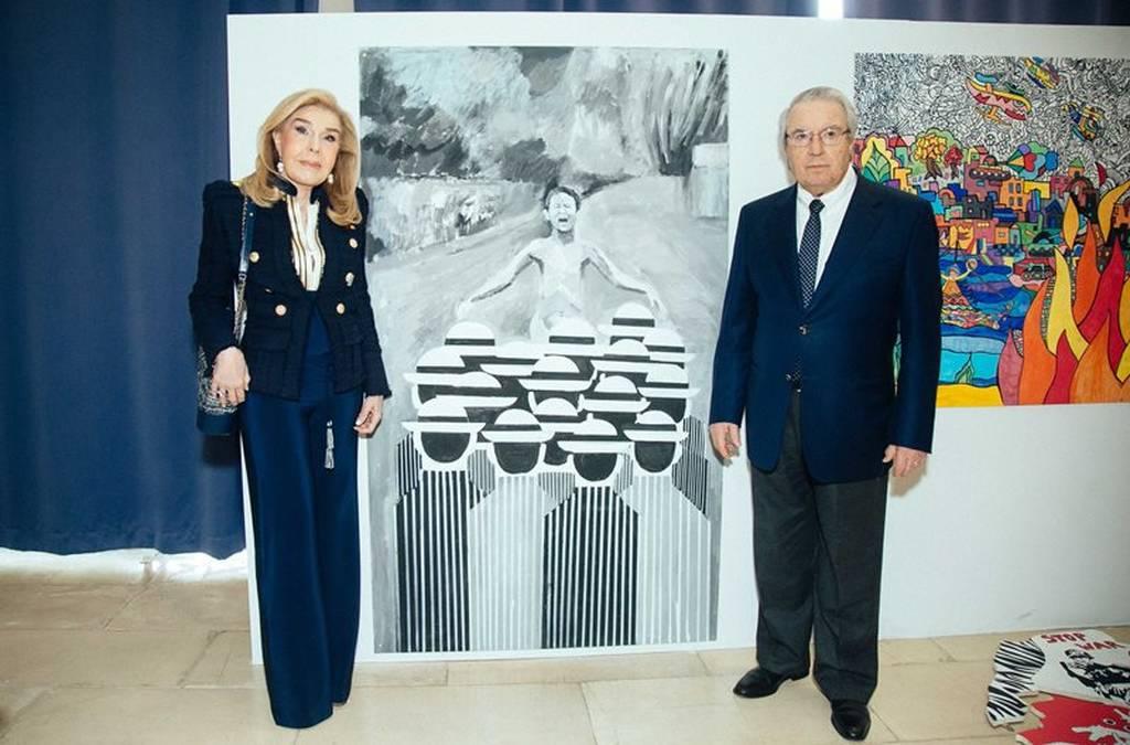 Η Μαριάννα Βαρδινογιάννη και ο Γιώργος Μπαμπινιώτης