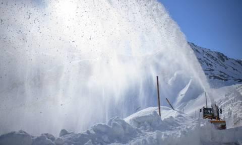 «Παιχνίδια» με το χιόνι στην... καρδιά της Άνοιξης (pics)