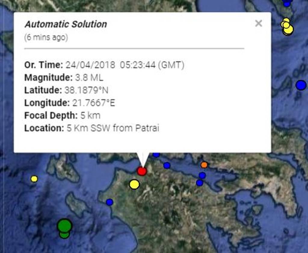 ΕΚΤΑΚΤΟ: Σεισμός ΤΩΡΑ στην Πάτρα