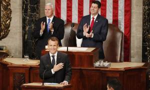 Αποθεώθηκε ο Μακρόν στο αμερικανικό Κογκρέσο - Δείτε φωτογραφίες και βίντεο