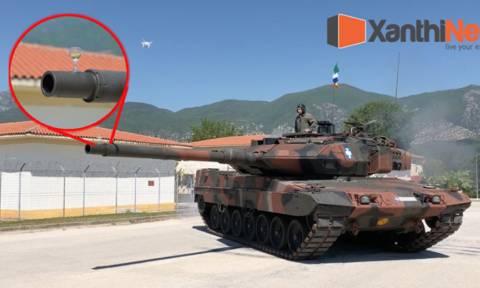 Απίστευτο βίντεο: Στην Ξάνθη πρόσφεραν κρασί στο στρατηγό τους με... Leopard!