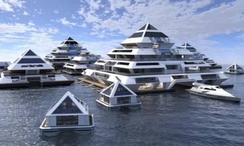 Το μέλλον έφτασε: Φτιάχνουν πόλη που επιπλέει στη θάλασσα! (vid)