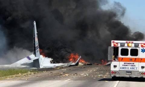 Συναγερμός στις ΗΠΑ: Συνετρίβη στρατιωτικό αεροπλάνο C-130 (Pics+Vid)