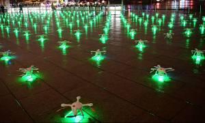 Παγκόσμιο ρεκόρ Γκίνες: 1.374 κινεζικά drones πέταξαν ταυτόχρονα