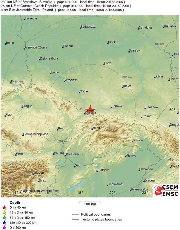 Σεισμός 4,1 Ρίχτερ ΤΩΡΑ στην Πολωνία