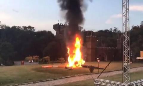 Βίντεο ΣΟΚ: Το ελικόπτερο που μετέφερε τη νύφη συνετρίβη μπροστά στα έντρομα μάτια του γαμπρού