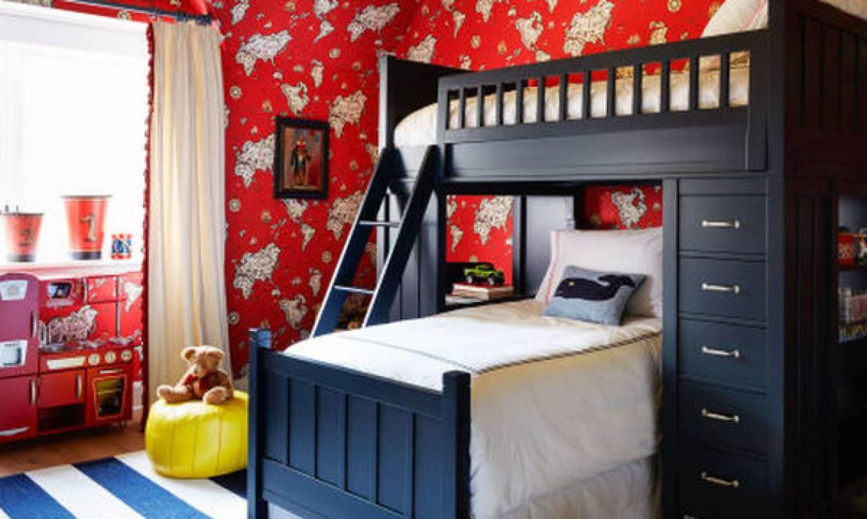 1cf43b2a60a Παιδικό δωμάτιο για αγόρι: Τριάντα ξεχωριστές ιδέες διακοσμησης ...