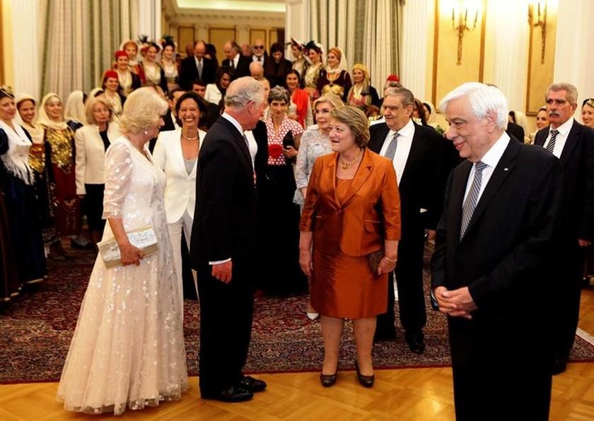 Επίσημο δείπνο για τον Πρίγκιπα Κάρολο στο Προεδρικό Μέγαρο