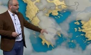 Προσοχή τις επόμενες ώρες! Η πρόγνωση του καιρού από τον Σάκη Αρναούτογλου (Video)