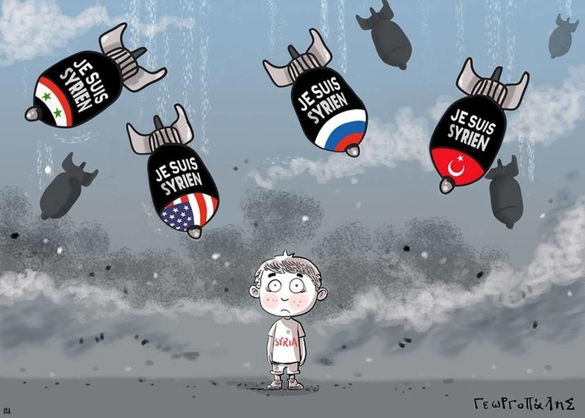 «Πόλεμος Α.Ε. - War S.A.»: Εικονογραφημένο μήνυμα ειρήνης στο Μετρό Συντάγματος (pics)