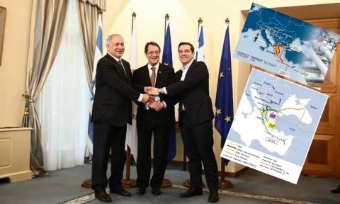 Αγωγός EastMed: Η κίνηση... Ματ Τσίπρα και Αναστασιάδη στη γεωστρατηγική «σκακιέρα» της Μεσογείου