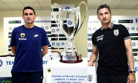 ΑΕΚ - ΠΑΟΚ: Τα πλάνα Χιμένεθ και Λουτσέσκου για τον τελικό
