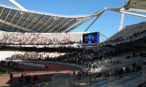 Τελικός Κυπέλλου: Επικό πανό οπαδών του ΠΑΟΚ στο ΟΑΚΑ (photo)