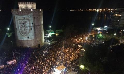 Τελικός Κυπέλλου 2018: «Κάηκε» ο Λευκός Πύργος - Στους δρόμους οι φίλοι του ΠΑΟΚ (video)