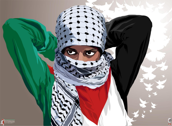 revolutionary woman intifada street by quadraro d5ljfpr