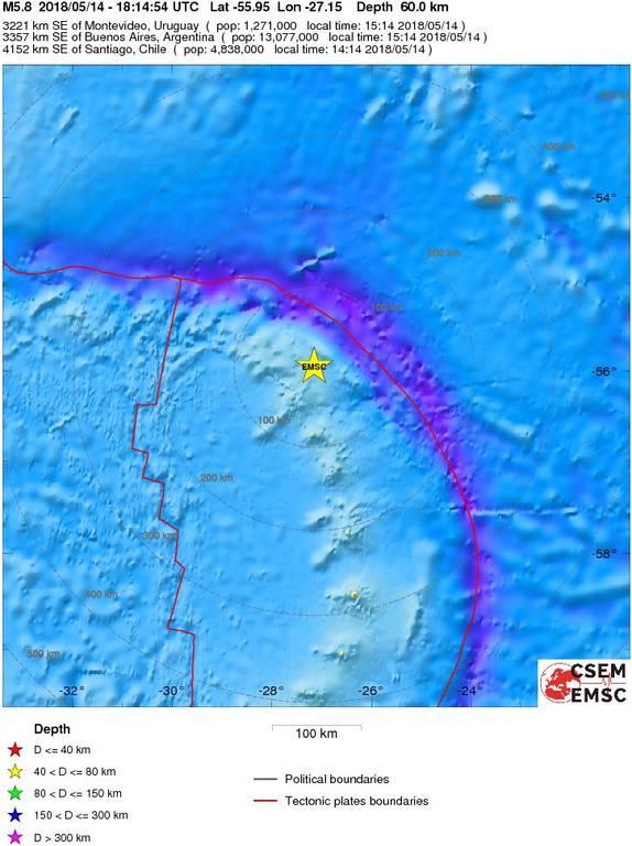 Σεισμός 5,6 Ρίχτερ χτύπησε τα νησιά Σάντουιτς