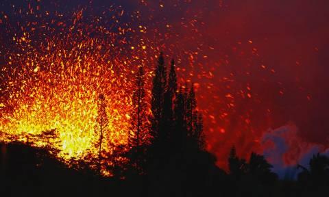 Συγκλονιστικές εικόνες: Δείτε σε πρώτο πλάνο την έκρηξη του ηφαιστείου Κιλαουέα στη Χαβάη (Vid)