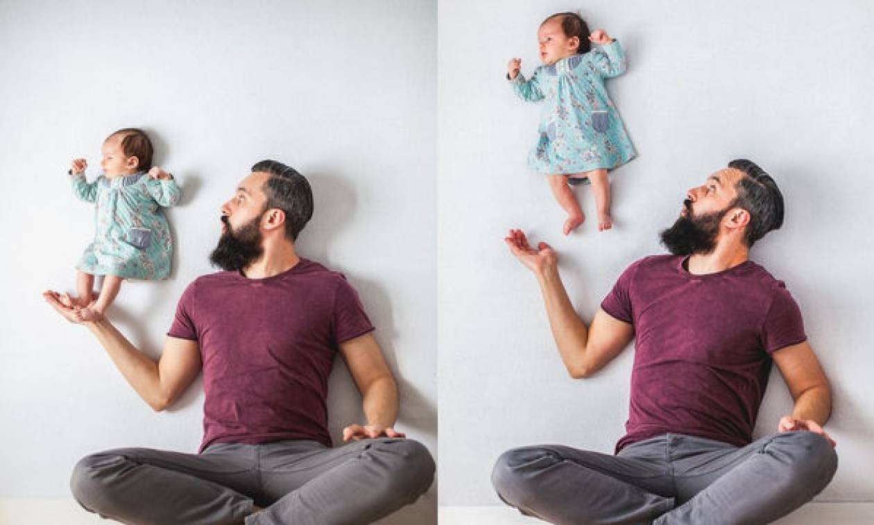 Η φωτογράφηση μπαμπά με το νεογέννητο μωρό a3bd116e135
