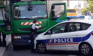Συναγερμός στην Γαλλία: Έκλεψαν απορριμματοφόρο για να το χρησιμοποιήσουν κατά του Μακρόν (Vids)