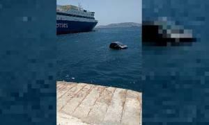 Απίστευτες εικόνες στη Μύκονο: Αυτοκίνητο «βούτηξε» στη θάλασσα! (video)