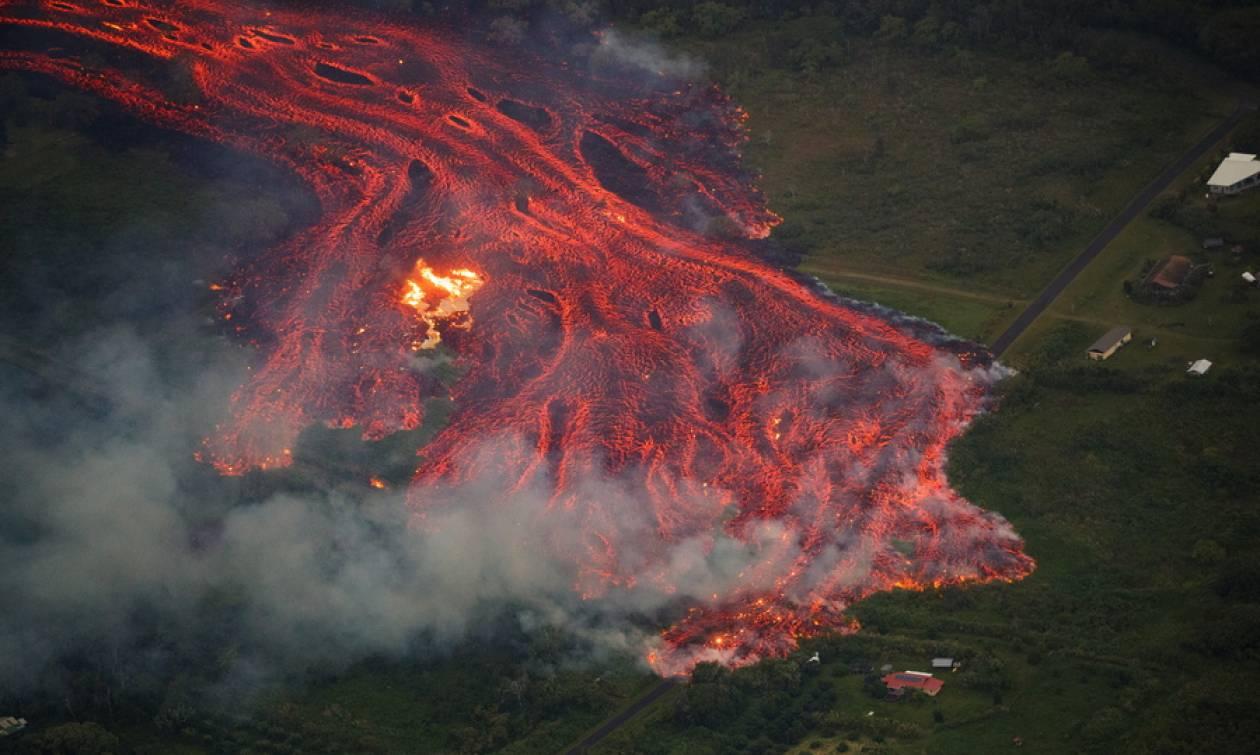 Εντυπωσιακό: Η έκρηξη του ηφαιστείου Κιλαουέα από το Διάστημα (pics)