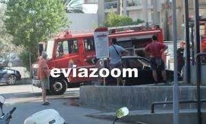 Πανικός στη Χαλκίδα από φωτιά στο super market «Σκλαβενίτης» (pics&vid)