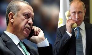 Τηλεφωνική συνομιλία Πούτιν - Ερντογάν για τη Συρία