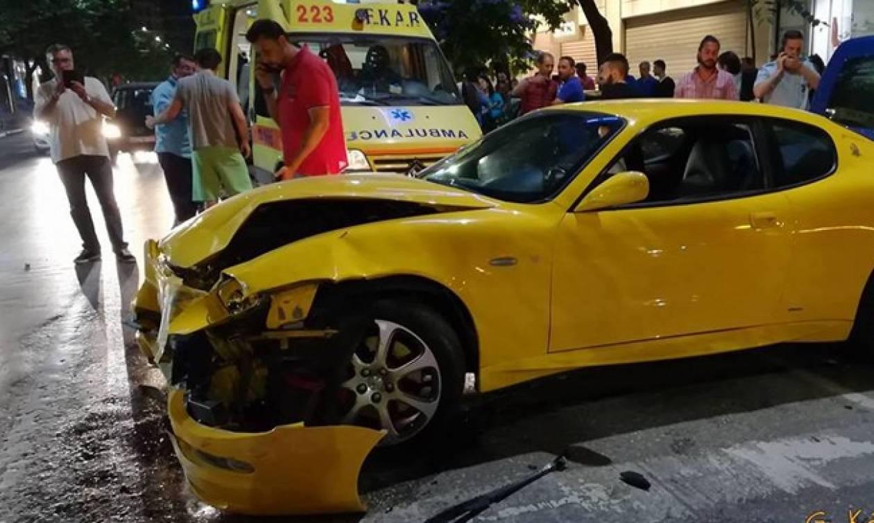 Η κυρία με την κίτρινη Maserati που τα «έσπασε» όλα στη Θεσσαλονίκη