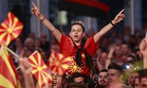 Μεγάλη διαδήλωση από τους Σκοπιανούς κατά της αλλαγής του ονόματος