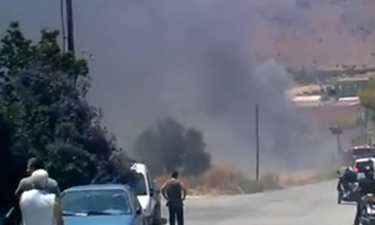 Κρήτη: Συναγερμός για φωτιά και εκρήξεις σε κατοικημένη περιοχή (pics)