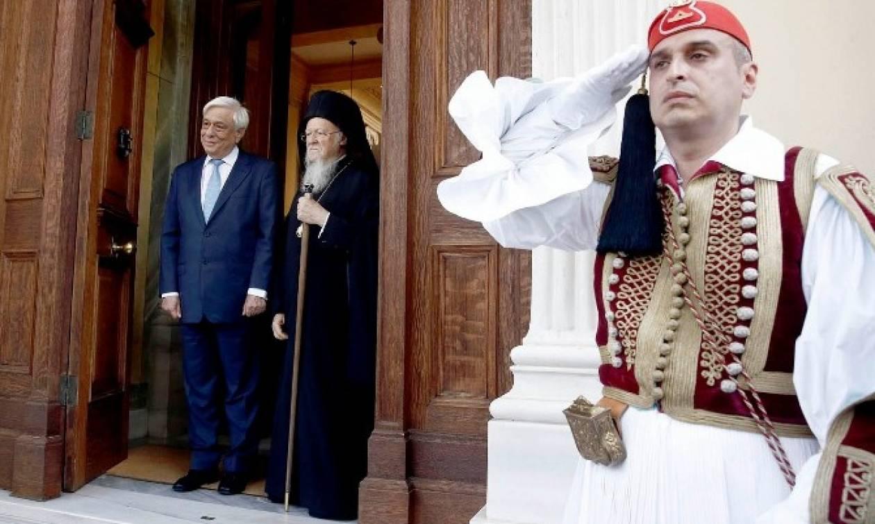Συνάντηση Παυλόπουλου - Βαρθολομαίου: Υπεράσπιση των Αρχών και των αξιών της Ορθοδοξίας