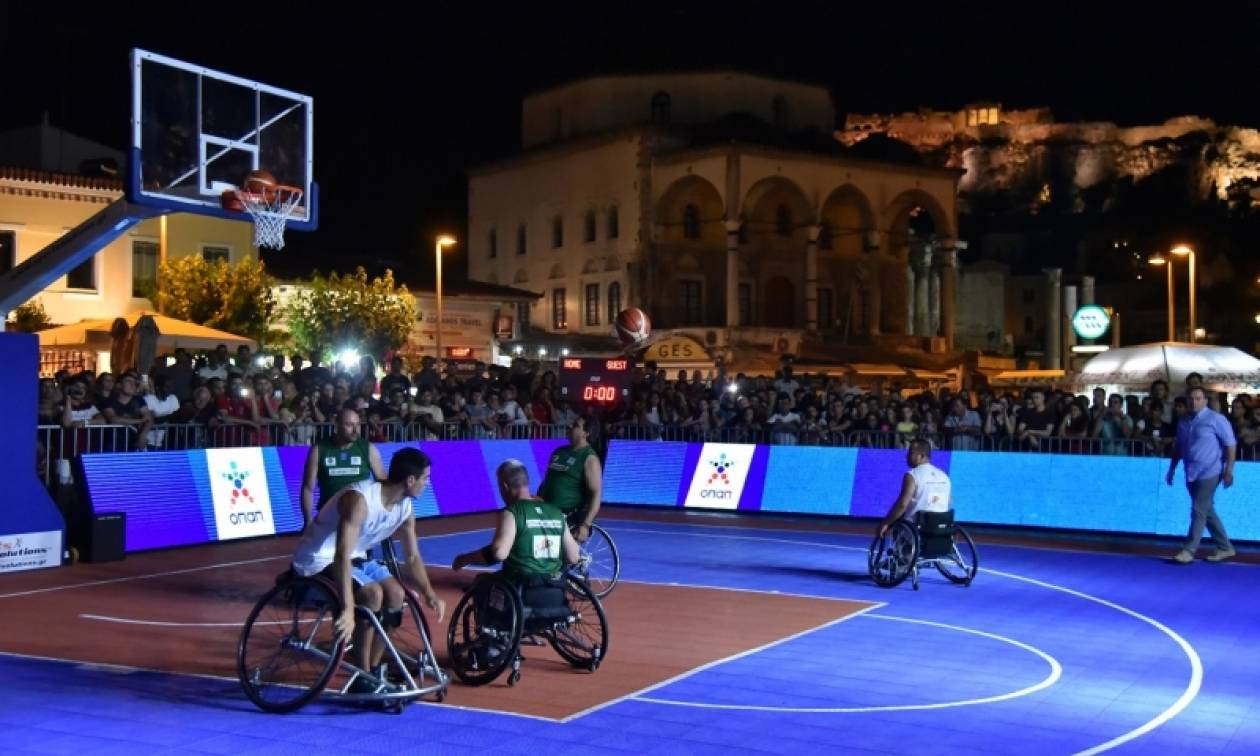 «1st Midnight 3on3 Streetball» – Το μπάσκετ με αμαξίδιο πάει παντού