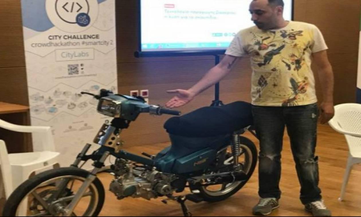 Κρήτη: Νεαρός Ηρακλειώτης έφτιαξε μηχανάκι που κινείται με ρακί! (pic)