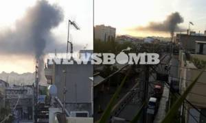 Крупный пожар произошел в Перистери, сгорело несколько жилых домов