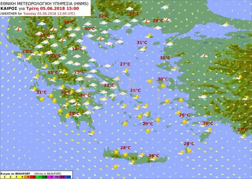 Καιρός: Ήρθαν τα πρώτα 35αρια του Καλοκαιριού - Πού θα σημειωθούν οι υψηλότερες θερμοκρασίες (pics)