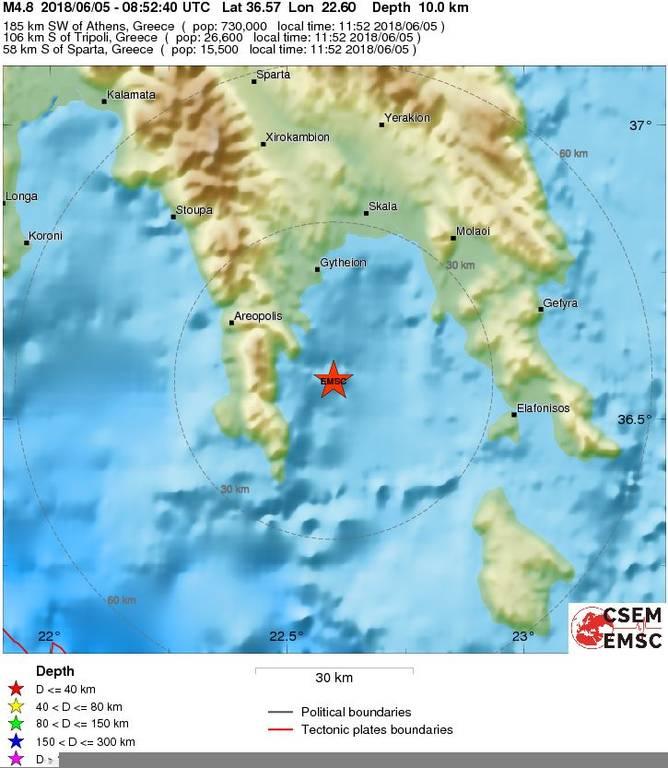 ΕΚΤΑΚΤΟ: Σεισμός ΤΩΡΑ στη Νεάπολη Λακωνίας