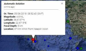 Earthquake jolts the regions of Laconia, Messinia and Kythera island