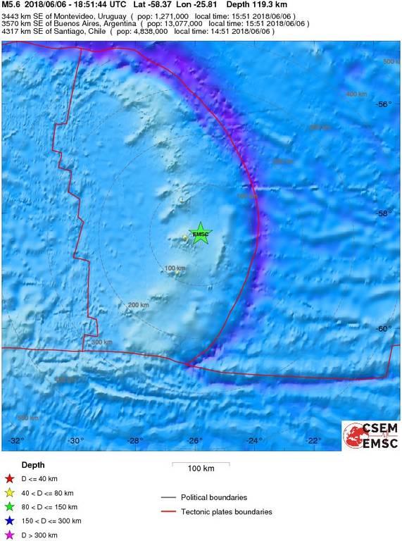 Σεισμός 5,9 Ρίχτερ χτύπησε τα νησιά Σάντουιτς