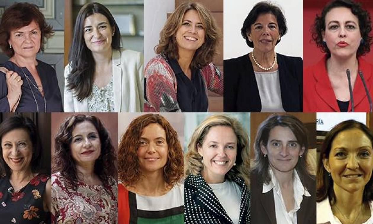 Η εξουσία στις γυναίκες: Η νέα κυβέρνηση της Ισπανίας «έγραψε» ήδη ιστορία (Pics)