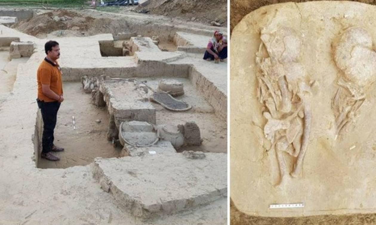 Ινδία: Βρέθηκαν ιππήλατα άρματα, σπαθιά και κράνη ηλικίας 4.000 ετών