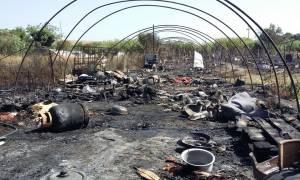 Ερευνών συνέχεια για τη φωτιά στη Νέα Μανωλάδα - Μία σύλληψη (pics)