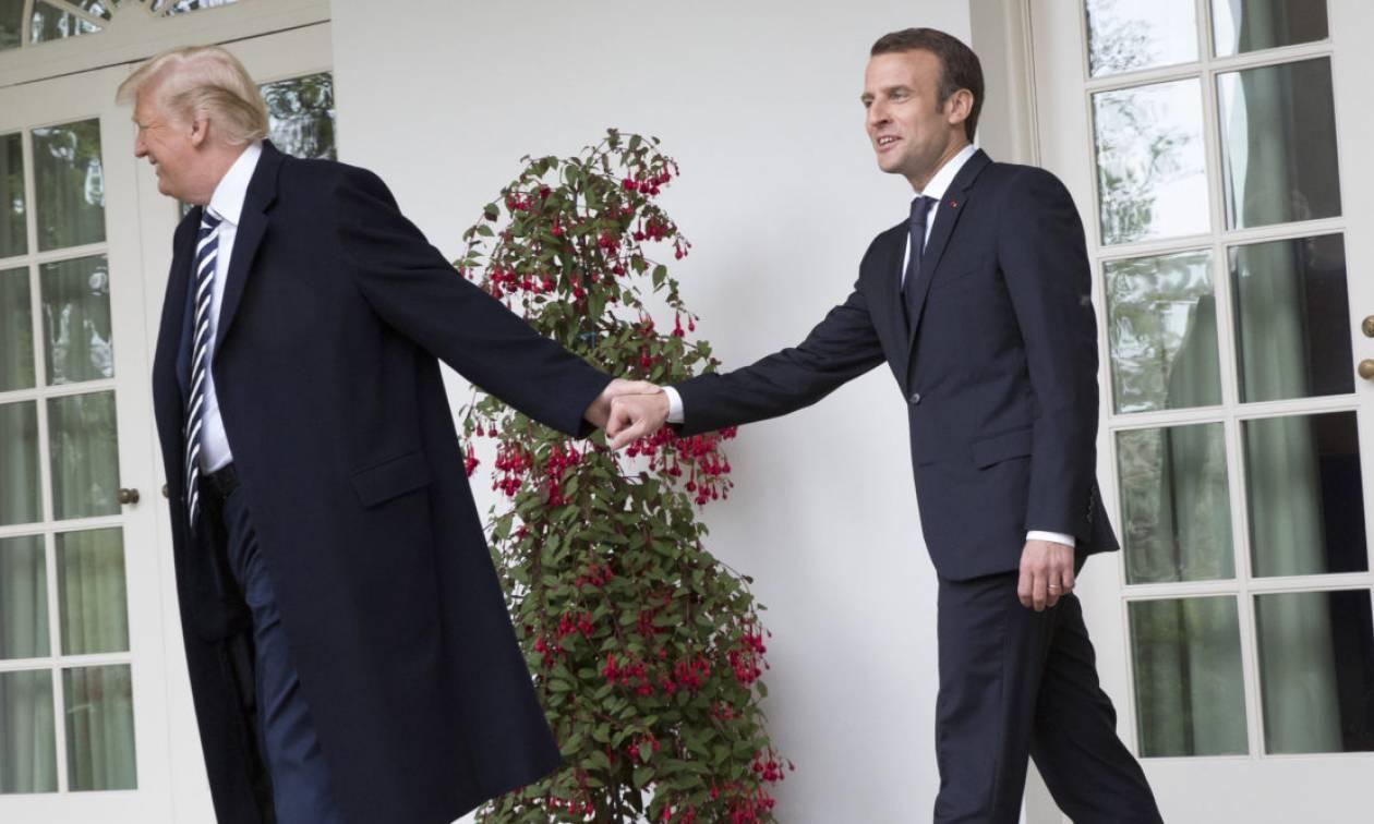 Τραμπ: Εγκάρδια συνάντηση με Μακρόν, «σνομπάρισμα» σε Μέι