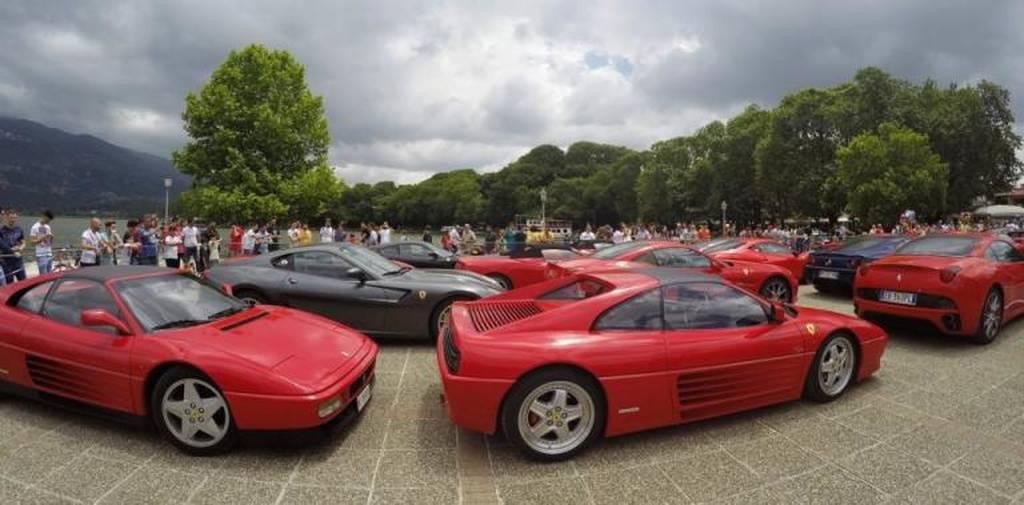Εντυπωσιακές εικόνες: «Πλημμύρησαν»... με Ferrari τα Ιωάννινα! (vid+pics)