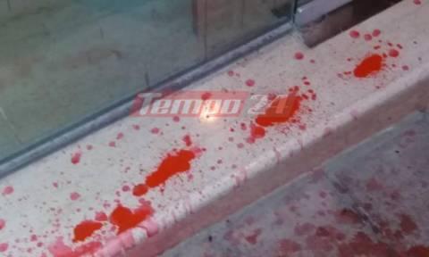 Πάτρα: Επίθεση με πέτρες και μπογιές κατά συμβολαιογραφικού γραφείου (pics&vids)