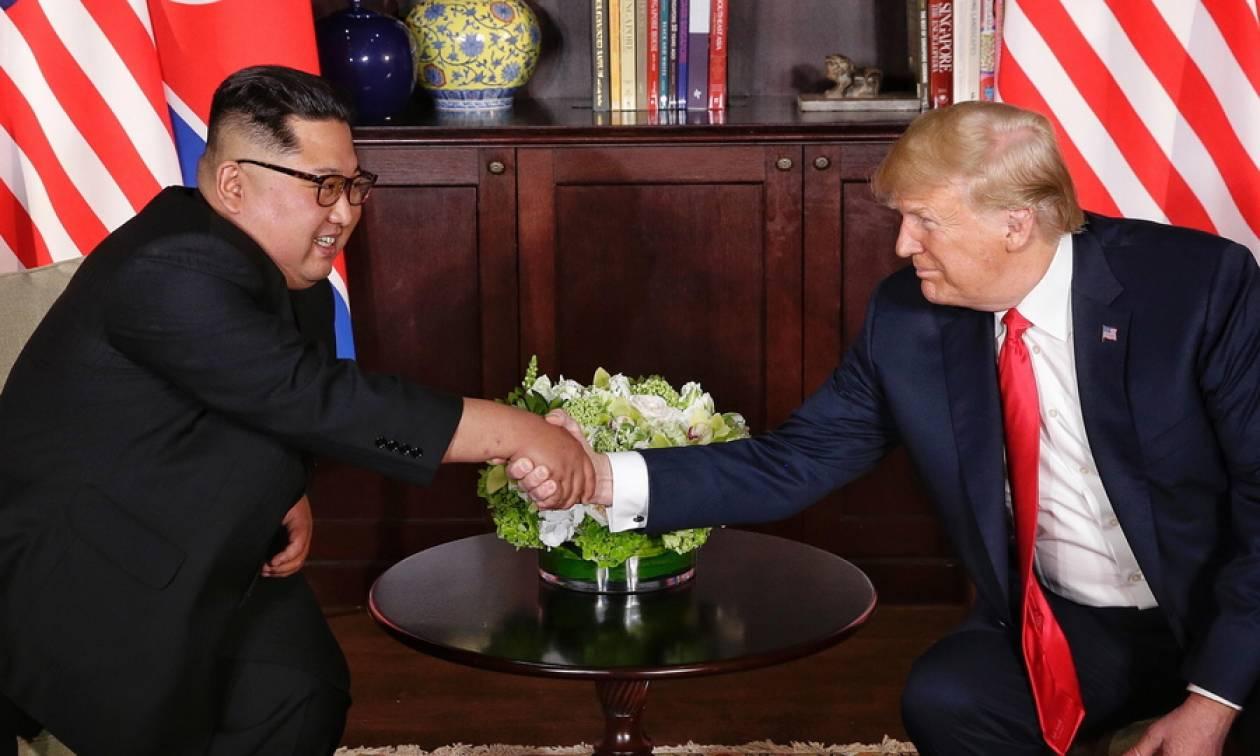 Ιστορική συμφωνία Τραμπ - Κιμ στη Σιγκαπούρη: Έπεσαν οι υπογραφές