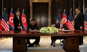 Трамп и Ким Чен Ын подписали документ по итогам саммита в Сингапуре